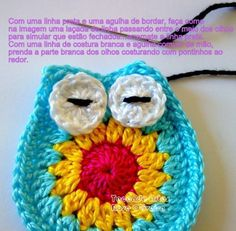 Hiboux colorés , pas à pas en images ! Owl Crochet Patterns, Crochet Owls, Crochet Designs, Crochet Flowers, Knit Crochet, Crochet Basket Tutorial, Crochet Turtle, Crochet Keychain, Sewing Crafts