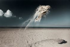 Photographer Captures The Graceful, Balletic Beauty Of Sand Clouds In Mid-Air - DesignTAXI.com