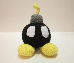 Bob-omb Amigurumi Crochet Mario Bomb Handmade by MadebyJody666