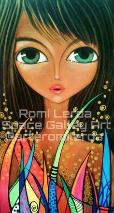 Romi Lerda - Buscar con Google Happy Paintings, Woman Drawing, Drawing Women, Face Art, Illustrations, Watercolor Illustration, Artist Art, Mixed Media Art, Modern Art
