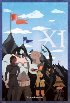 FFXI Minimalist Poster  Online ? Why XI and not FF-On-Line ? WTF !
