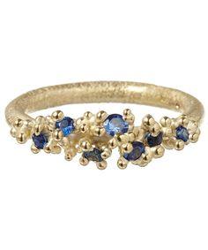 Ruth Tomlinson Gold Sapphire Granule Ring   Fine Jewellery   Liberty.co.uk