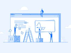 Design at DigitalOcean by Kevin Yang for DigitalOcean on Dribbble Outline Illustration, Business Illustration, Character Illustration, Digital Illustration, Design Sites, Web Design Projects, Branding, Identity, Colorful Drawings