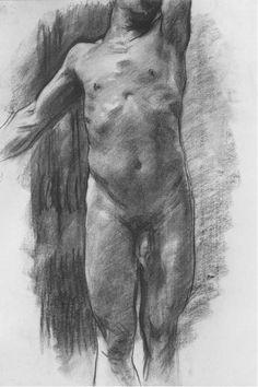 Nude male study, sketchbook of John Singer Sargent