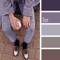 denim, grey, jeans, lavender, loafers, oversize, shades of ash-purple, shades of purple, shiny shoes, shoes, silver, wool coat.
