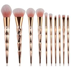 OVERMAL 10PCS Make Up Foundation Eyebrow Eyeliner Blush Cosmetic Concealer Brushes >>> Details can be found by clicking on the image. (This is an affiliate link and I receive a commission for the sales) #MakeupBrushSetsKits