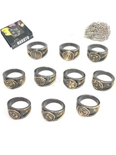 #Milanoo.com Ltd #Anime Merchandise #Bronze #Naruto #Cool #Anime #Rings 10 Pcs Bronze Naruto Cool Anime Rings http://www.snaproduct.com/product.aspx?PID=5715290