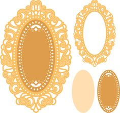Mirror Mirror Doily Frame (Set of 3) - Cheery Lynn Designs