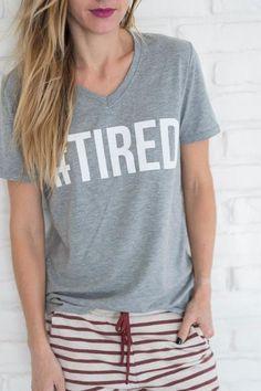 "I feel like the ""Mom Hustle"" ""Wifey"" and ""#tired"" shirts should all come as a set. #mindymaesmarket #dreamcloset"
