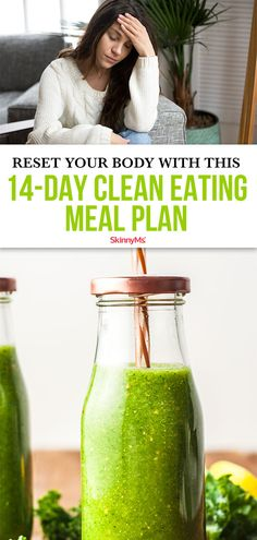 Tired of feeling bloated and sluggish? Reset Your body with this clean eating meal plan. It's full of energizing nutritious and delicious foods! Clean Eating Slow Cooker Recipe, Clean Eating Meal Plan, Clean Eating Recipes For Dinner, Local Fast Food, Planning Menu, Meal Prep For The Week, Detox Drinks, Healthy Options, Lose Weight