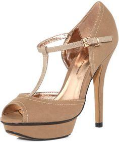 e94e77f880a Taupe t bar platforms - Dorothy Perkins - £.24.00 Bridesmaid Shoes