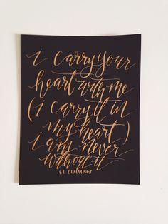 Jenna Rainey // Mon Voir - E.E. Cummings print in gold