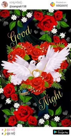 Good Night Gif, Good Night Image, Good Night Flowers, Fancy Letters, Play, Bouquets, Floral Wreath, Decor, Have A Good Night