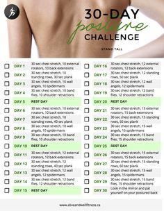 30 Day Posture Challenge.                                                                                                                                                      More