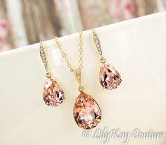 Morganite Earring Gold Earring Blush Gold Bridesmaid Jewelry
