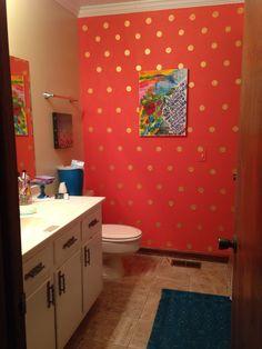 Gold Polka dot bathroom