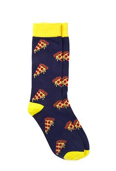 Pizza Print Socks says it all! You need longer socks to blend your outfit! Silly Socks, Funky Socks, Crazy Socks, Cute Socks, My Socks, Pizza Socks, Unique Socks, Patterned Socks, Guys And Girls