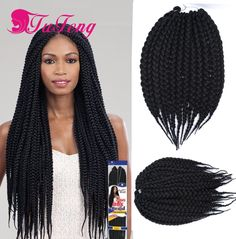How To Do Crochet Box Braids Small : crochet hair braiding 12 14 inch havana mambo twist crochet box braids ...