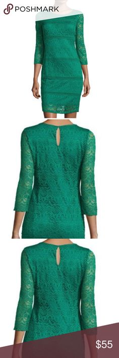 Lace Knit Dress in Emerald Green This is a beautiful emerald green lace cocktail dress by Neiman Marcus and Hms Productions & Cable Gauge. Perfect for a wedding or special occasion. Pair it with a chic shoe and clutch. Price firm unless bundled. More pics to come. Description and measurements above. Neiman Marcus Dresses Wedding