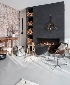 In & Outdoor decoration Home Room Design, House Design, Küchen Design, Interior Design, Happy New Home, White Rooms, Fireplace Design, Home And Living, Home Furniture