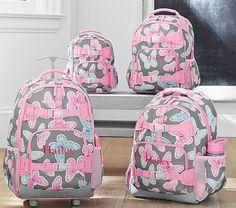 Mackenzie Gray Butterfly Backpacks   Pottery Barn Kids