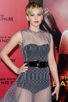 J. Law at Catching Fire premiere
