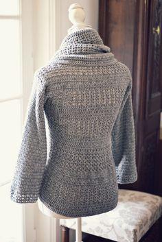 Crochet cardigan PATTERN (pdf file) - Ladies' Shrug -
