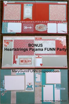 Heartstrings layouts how-to guide free with qualifying purchase from Mary Gunn…