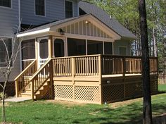 Deck and room