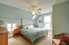 love an upstairs bedroom with high ceilings in a Victorian
