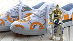 Cute Diy BB 8 from Star Wars Sneakers