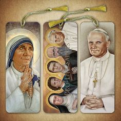 Pro-Life Bookmarks set of 3 Mother Teresa by PortraitsofSaints