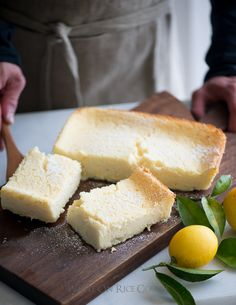 Meyer Lemon Magic Custard Cake Recipe on WhiteOnRiceCouple.com