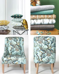...I'd be surrounded by anything Dwell Studio. Love, love their graphic prints. And the colors are just what I would like to be surrounded with. For Robert Allen at Home Fabric - Calico Corners