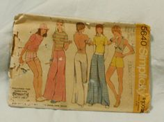 Simplicity 5640 Vintage 1970s Halter Blouse by EleanorMeriwether, $5.00