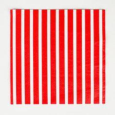 Serviettes rayées rouges - My little day
