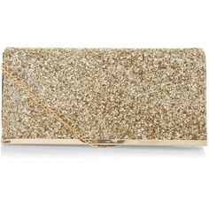 New Look Gold Glitter Clutch ($21) ❤ liked on Polyvore featuring bags, handbags, clutches, gold, gold glitter purse, glitter handbag, glitter clutches, gold clutches and glitter purse