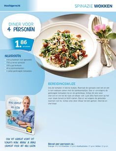 Spinazie wokken - Lidl Nederland Skinny Recipes, Healthy Recipes, Skinny Meals, Diner Recipes, Cheap Meals, Fabulous Foods, Quick Easy Meals, Healthy Eating, Healthy Food