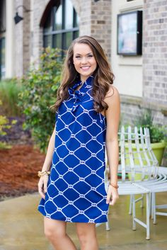 MUD PIE WHITNEY RUFFLE DRESS - NAVY $49.00 Shop Now at www.walkerboutique.com!