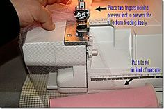 Gathering tulle with your serger
