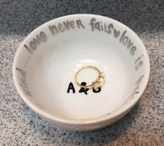 A personal favorite from my Etsy shop https://www.etsy.com/listing/229454547/jewleryring-dish-personalized