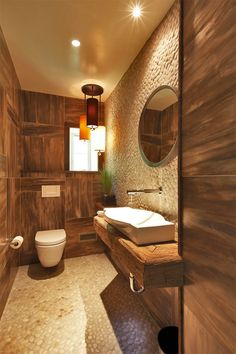 Em projetos de interiores onde não há restrição de espaço é provável que exista um lavabo, local para as visitas lavarem as mãos, mas que não é exatamente