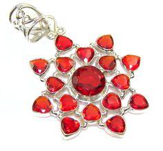 Memories!! Red Quartz Sterling Silver Pendant – Jewelry