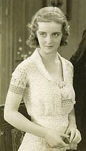 "Bette Davis - 1931, 23 years of age in her film debut, (""The Bad Sister"")"