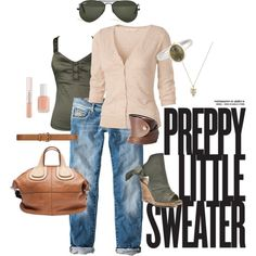 """Preppy Little Sweater"" by colorware on Polyvore"