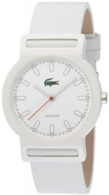 9b3fc6fb8ed Relógio Lacoste White Leather Band Ladies Watch - 2010484  Relogios   Lacoste Brand Name Watches