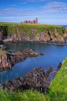 Slains Castle on the cliffs of Cruden Bay, Aberdeenshire