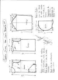 Схема Моделирования пальто с капюшоном размер PP (40 женщин, 38 мужчин).