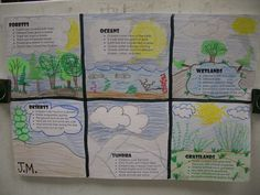 End of Unit Habitats - Have the students write bullet facts in computer lab and then draw pictures to complete. Fourth Grade Science, Elementary Science, Science Classroom, Teaching Science, Science For Kids, Earth Science, Science Activities, Science Writing, Science Fun