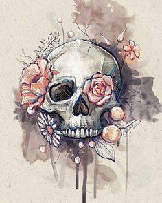 Skull ... day of the dead vibe for me. Dark but interesting.